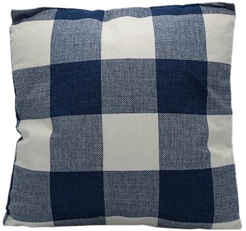 Kussen Vierkant Blauw/Wit 45x45cm