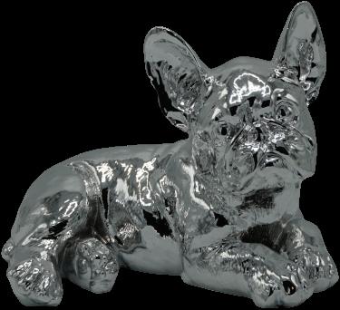 Bulldog Liggend Zilver