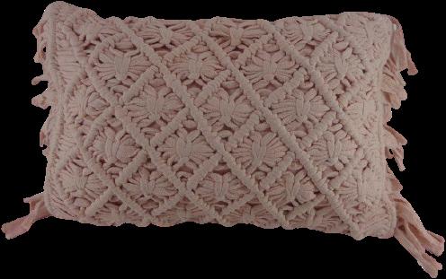 Katoenen Kussen Oud Roze