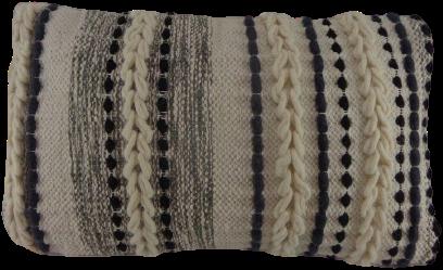 Katoenen Kussen Grijs/Wit/Zwart