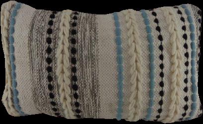 Katoenen Kussen Grijs/Wit/Blauw/Zwart