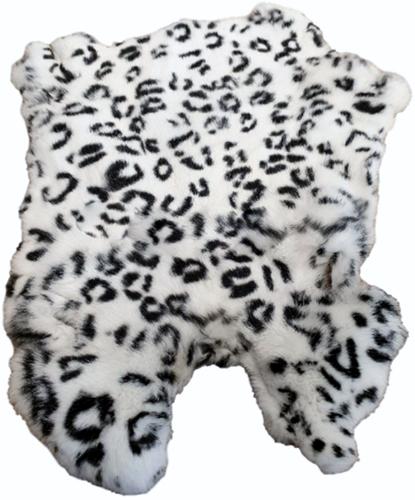 Konijnenvacht Sneeuwpanter Wit