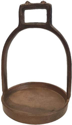 Horse Plate M Vintage Copper