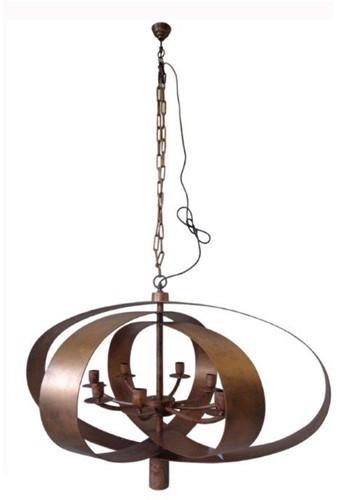 Ovale Cilinder Lamp Black Antique